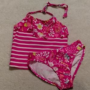 Girls Old Navy 2 piece swimsuit, size 8
